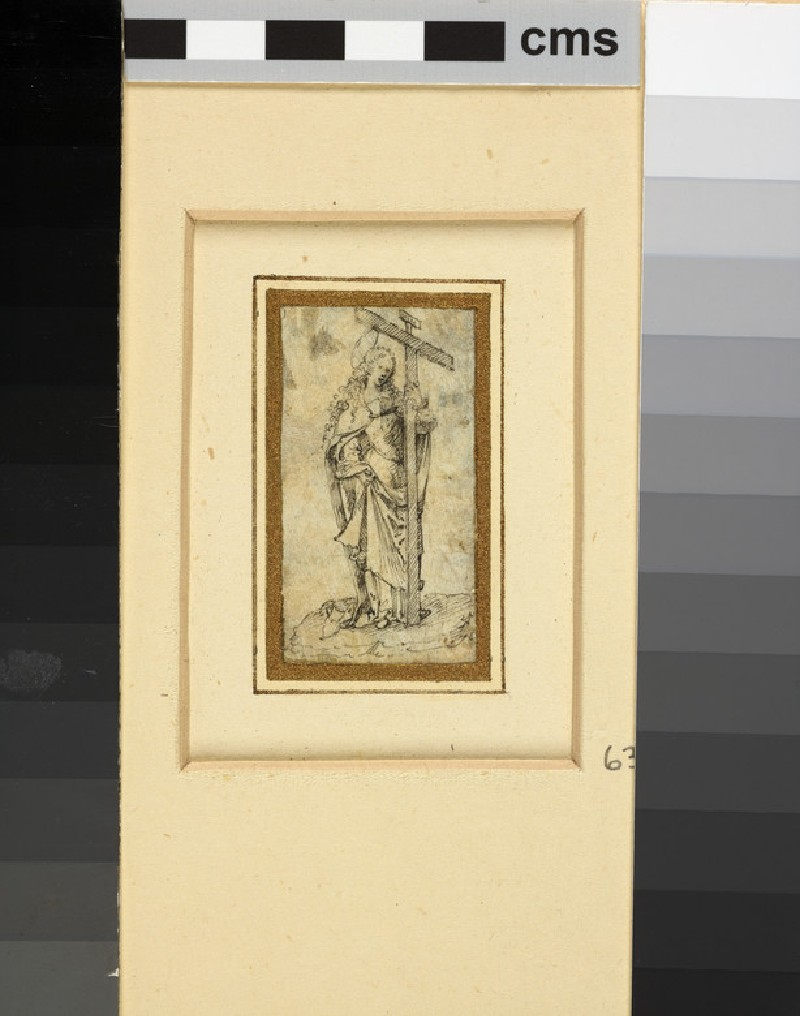St Helena holding a large cross in her left hand