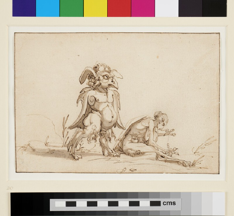 Two Monsters (WA1863.152, recto)