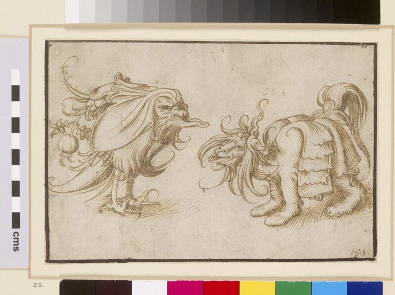 Two grotesque Animals (WA1863.158)