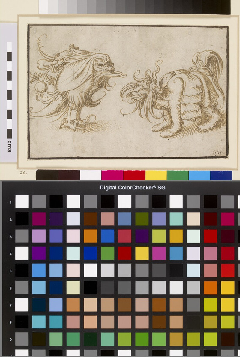 Two grotesque Animals (WA1863.158)