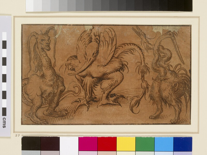 Three grotesque Animals (WA1863.159)