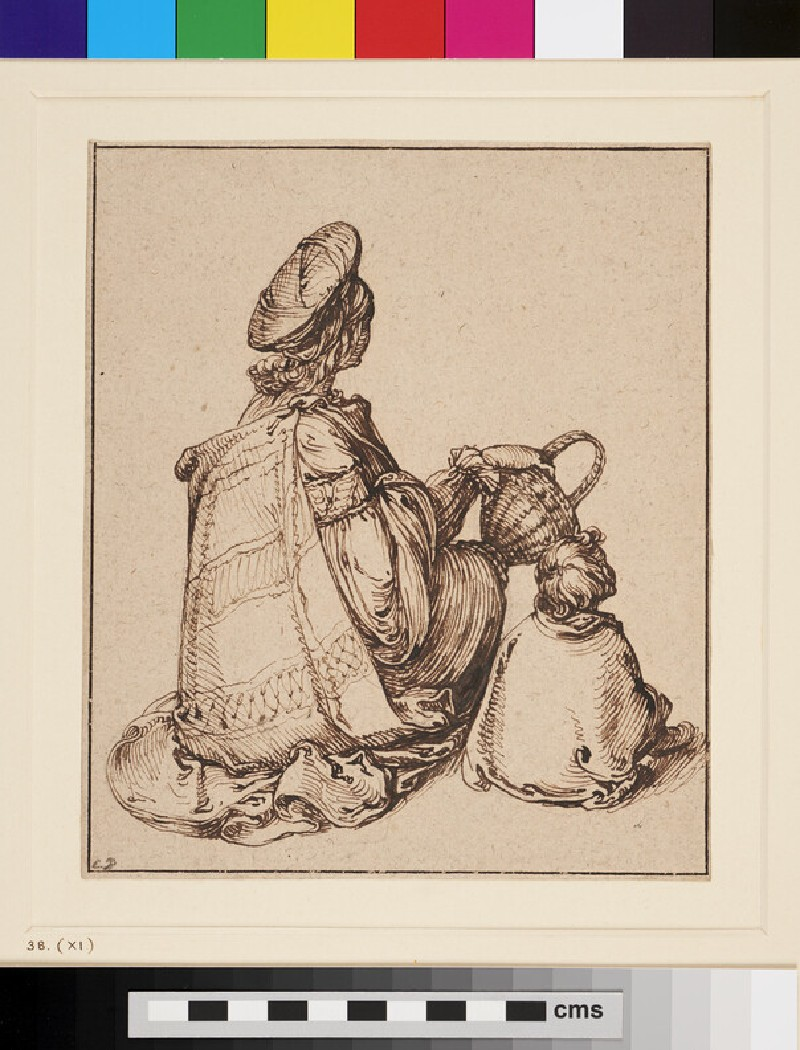 Seated Figures of a Woman and Child