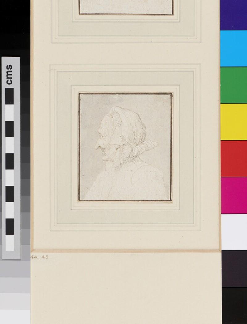 Head of an old Woman (WA1863.176, recto)