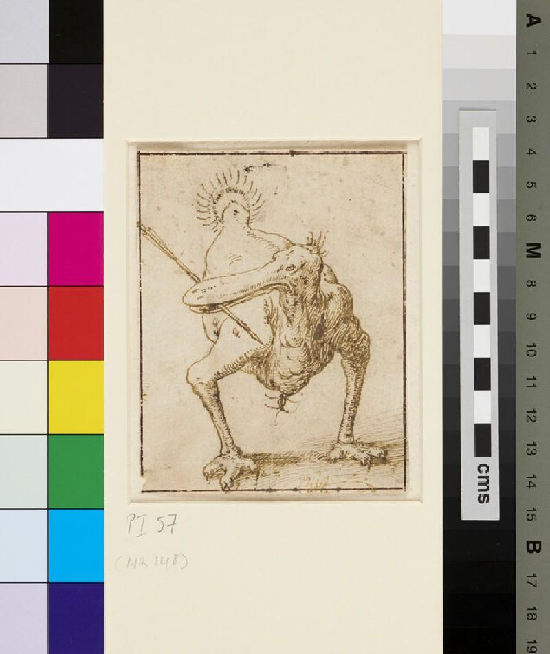 A grotesque Bird (WA1863.187, recto)