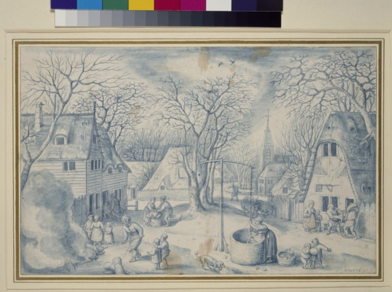 A village Scene (WA1863.199)