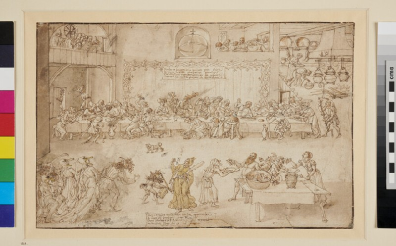 Recto: A Feast with Mummers