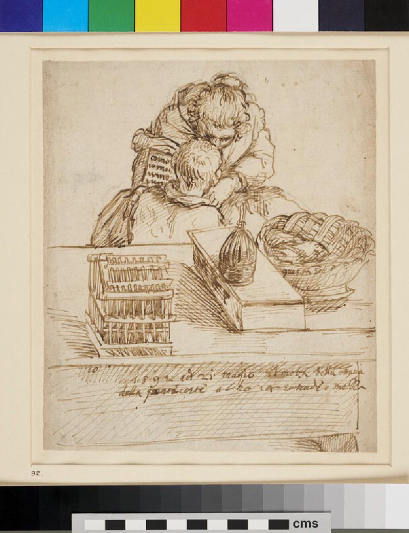 A Woman teaching a Boy to read (WA1863.220, recto)