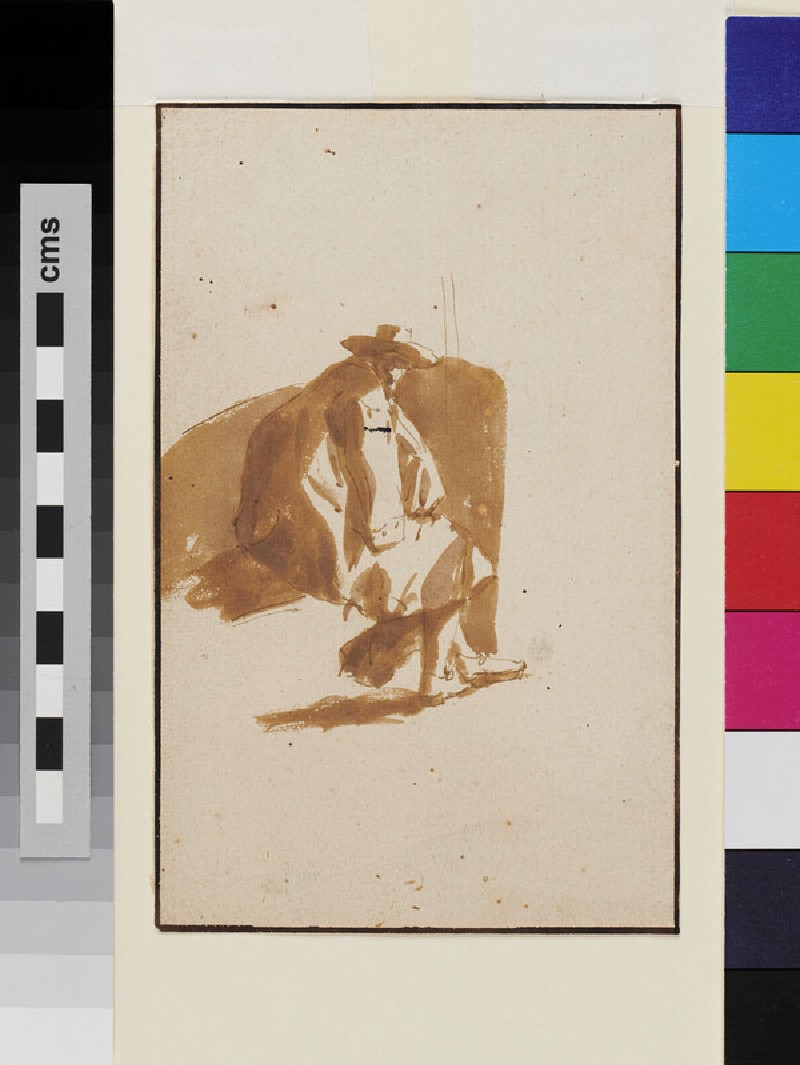 Recto: Study of a seated Man