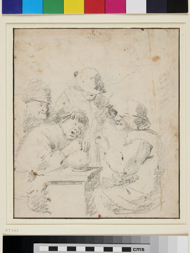 Peasants in a Tavern (WA1863.255, recto)