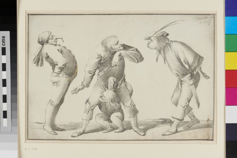 Four grotesque Figures