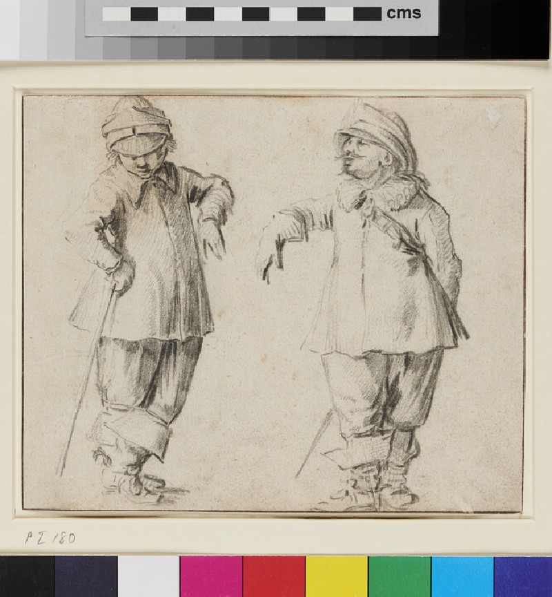 Two Men standing (WA1863.270, recto)