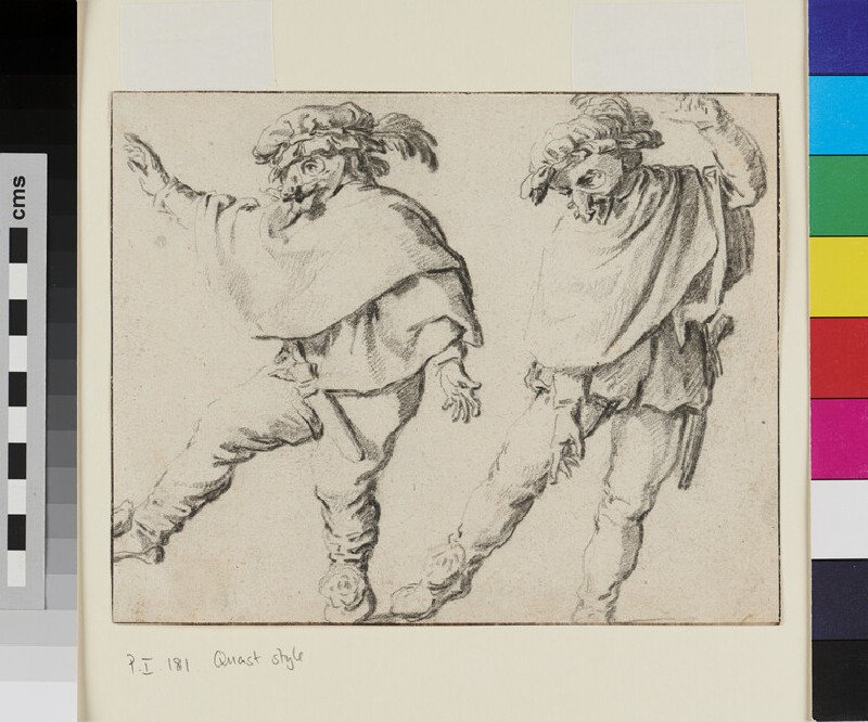 Two Mummers dancing
