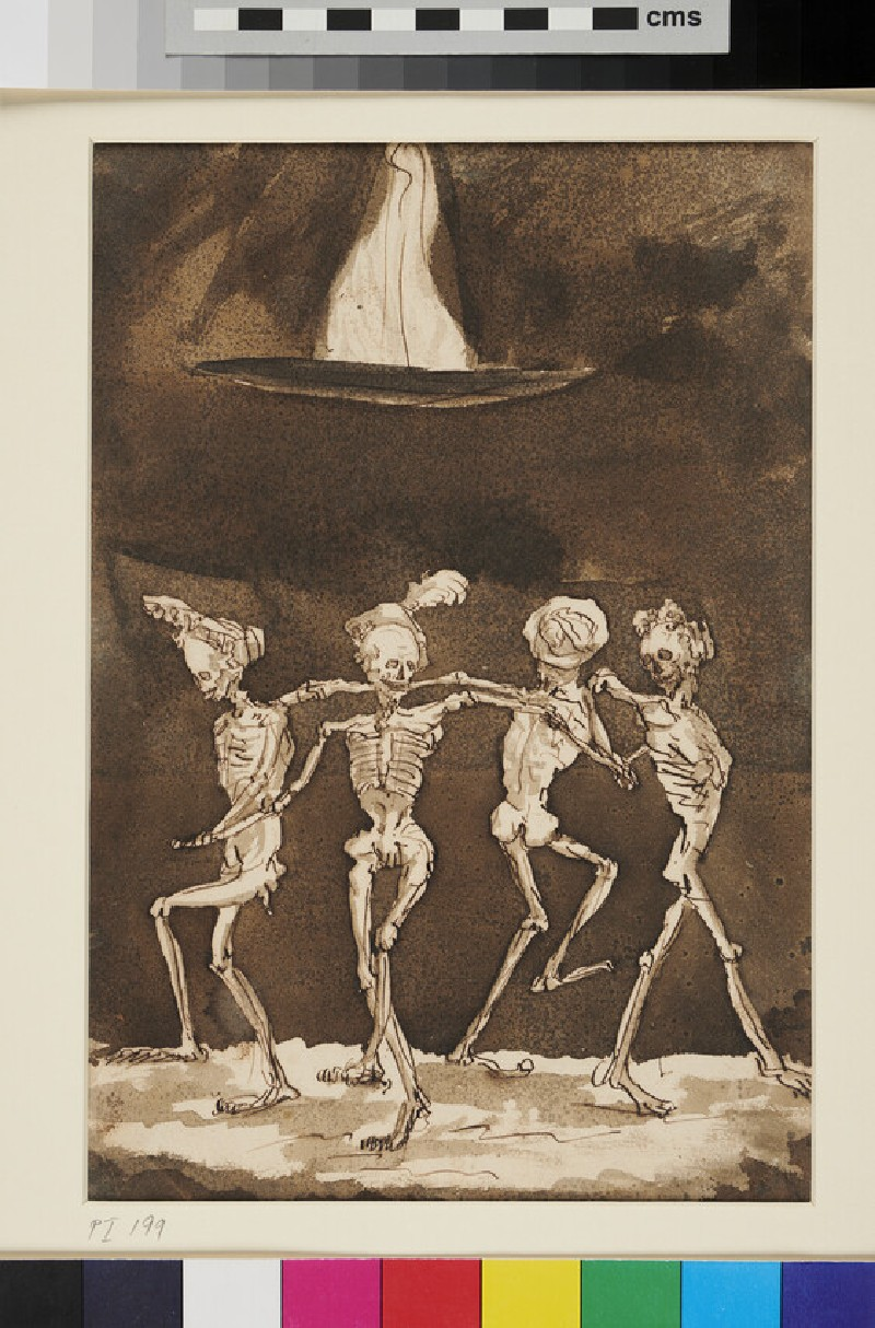 Four Skeletons dancing