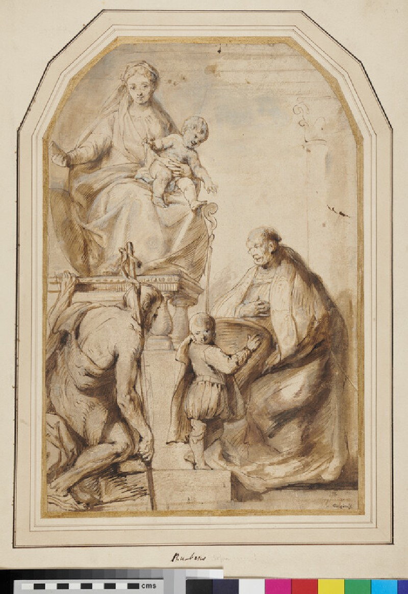 The Virgin enthroned with Saints