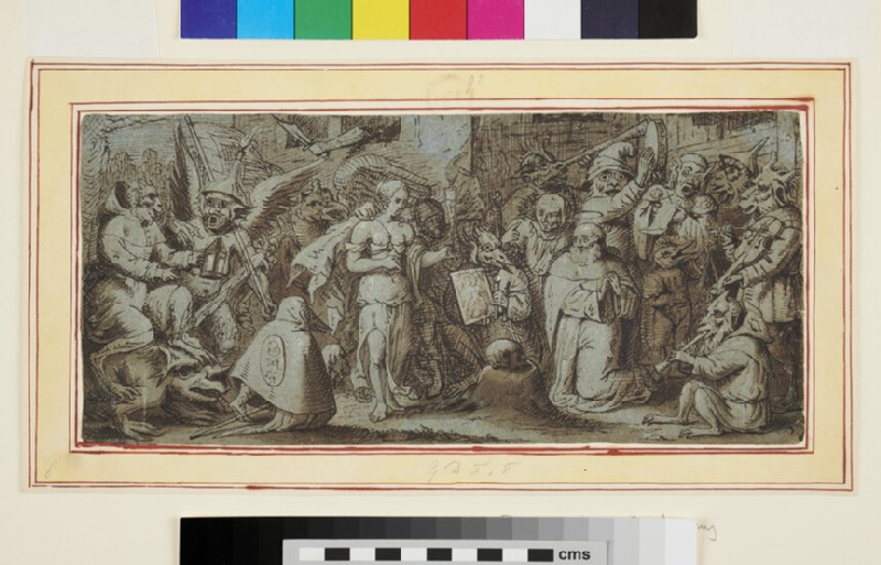 The Temptation of St Anthony (WA1863.286, recto)