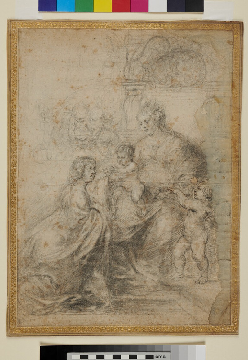 The mystic Marriage of St Catherine (WA1863.288, recto)