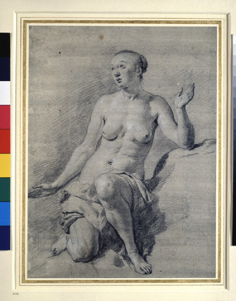 Study of a nude female figure (WA1863.291)