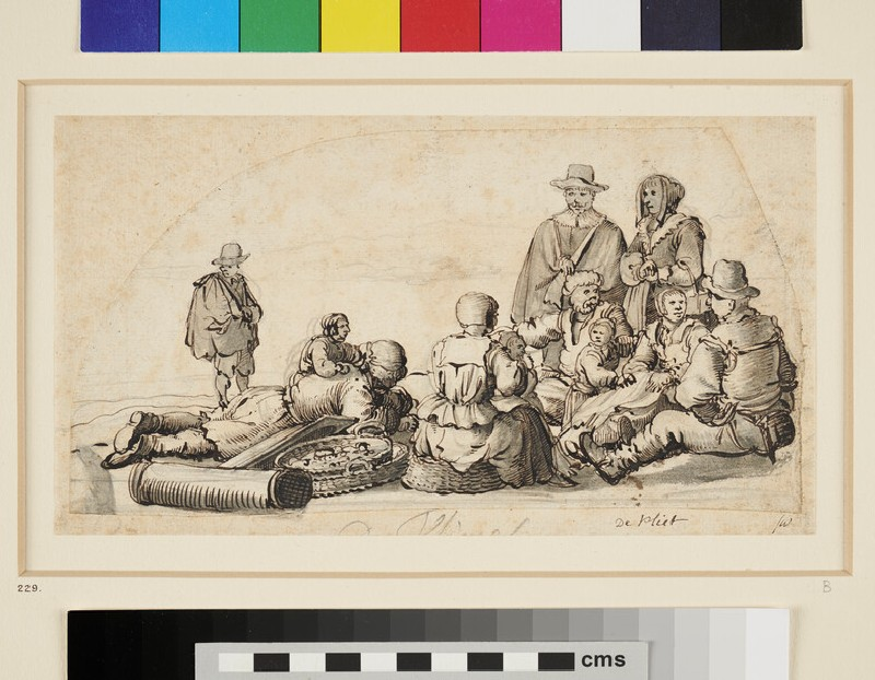 Group of eleven fisher Folk and others