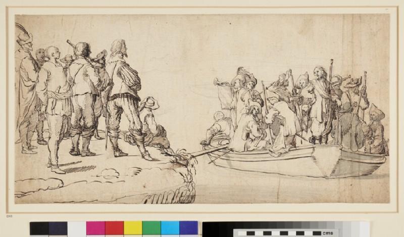 An embarkation Scene (WA1863.293, recto)