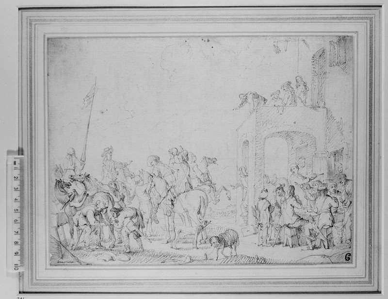 Horsemen outside an Inn (WA1863.301)