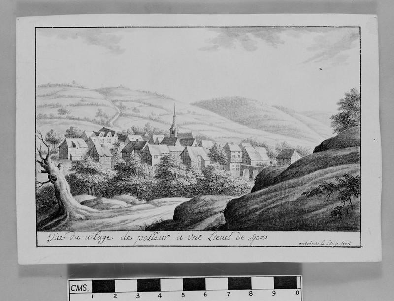 Vue de Sainte Apolinaire sur le Rhin, païs de Cologne (probably in Remagen) (WA1863.324)