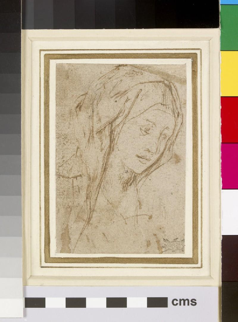 Recto: Head of a Woman<br />Verso: Slight ink Studies (WA1863.342)