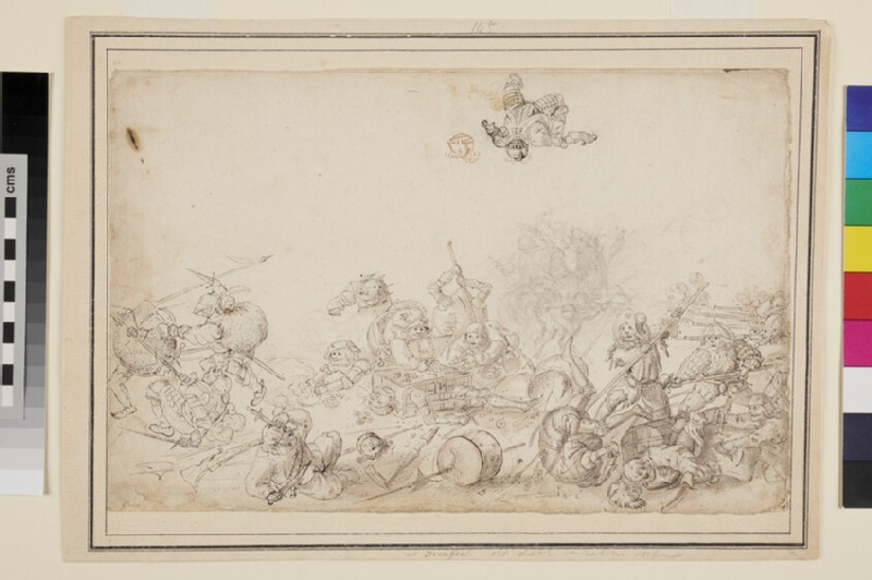 Battle of grotesque Figures (WA1863.357, recto)