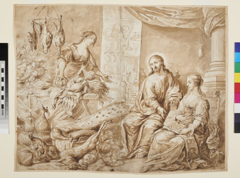 Christ in the House of Mary and Martha (WA1863.362, recto)
