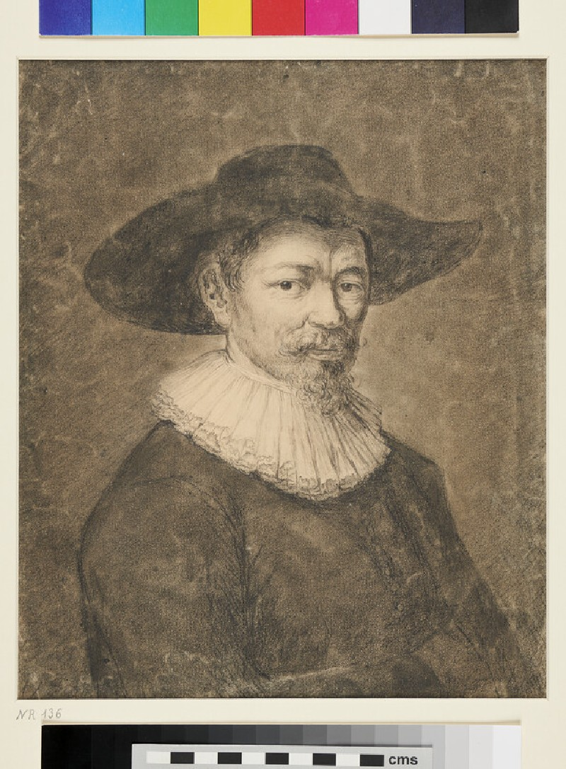 Recto: Portrait of Herman Doomer<br />Verso: Nude Male Torso (WA1863.375, recto)