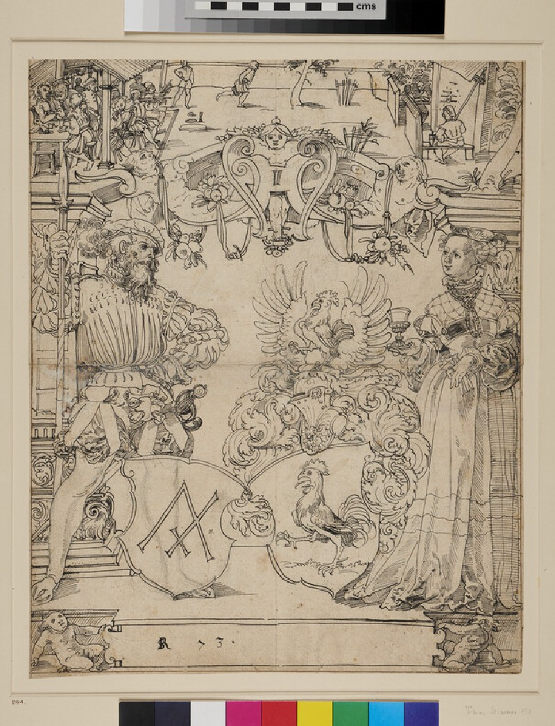 Design for a Panel of stained Glass (WA1863.395, recto)