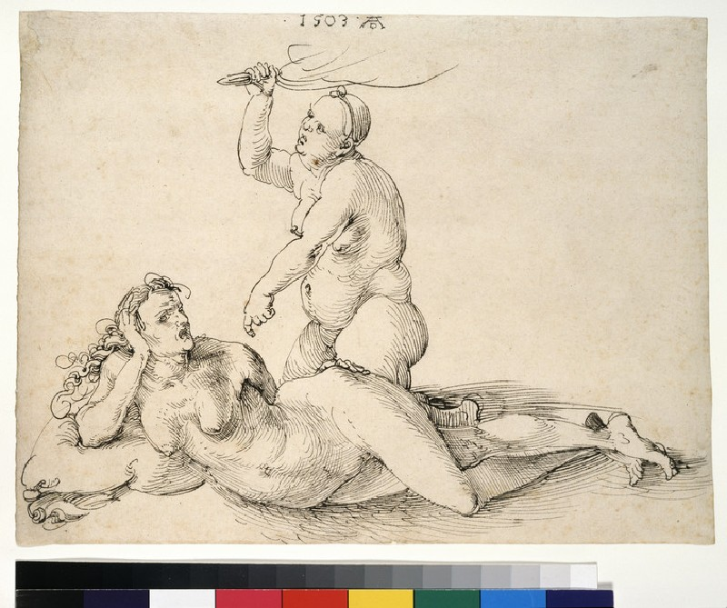 Two nude female figures (WA1863.415)
