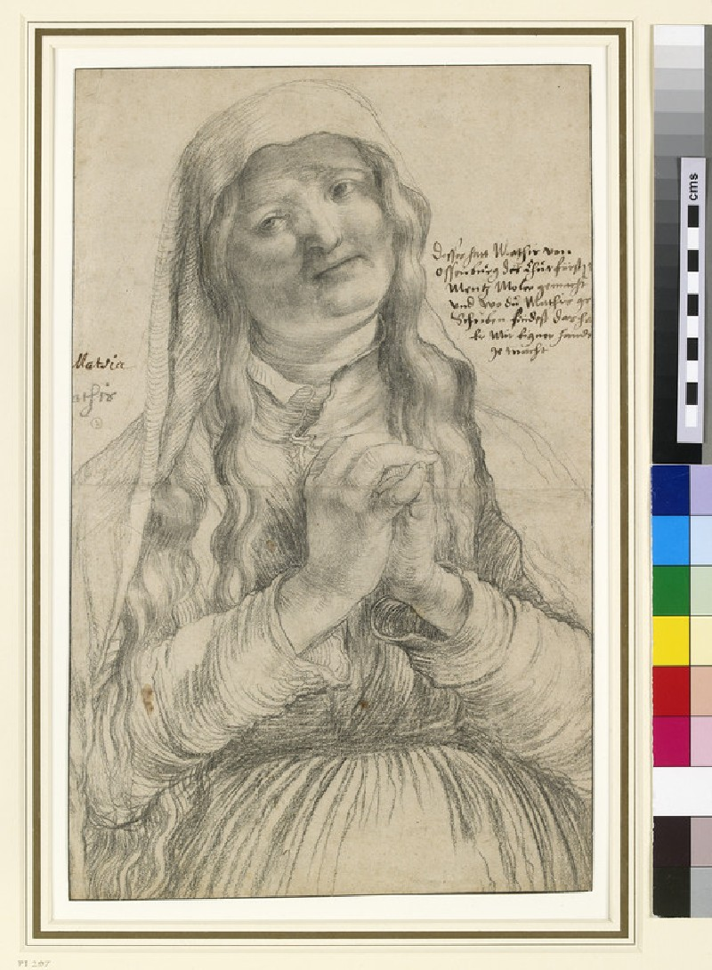 An Elderly Woman with Clasped Hands (WA1863.421)
