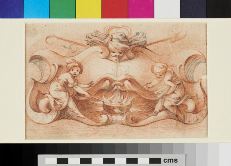 Design for a Cul-de-Lampe (WA1863.422, recto)