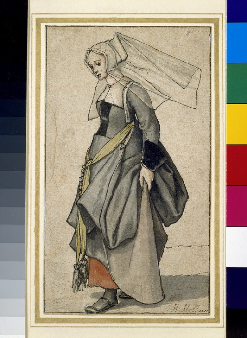 Figure of a young Englishwoman in contemporary dress