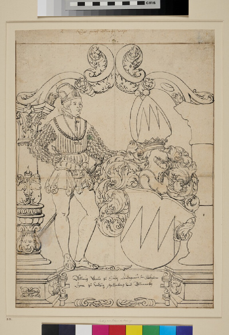 Design for a Panel of stained Glass (WA1863.446, recto)