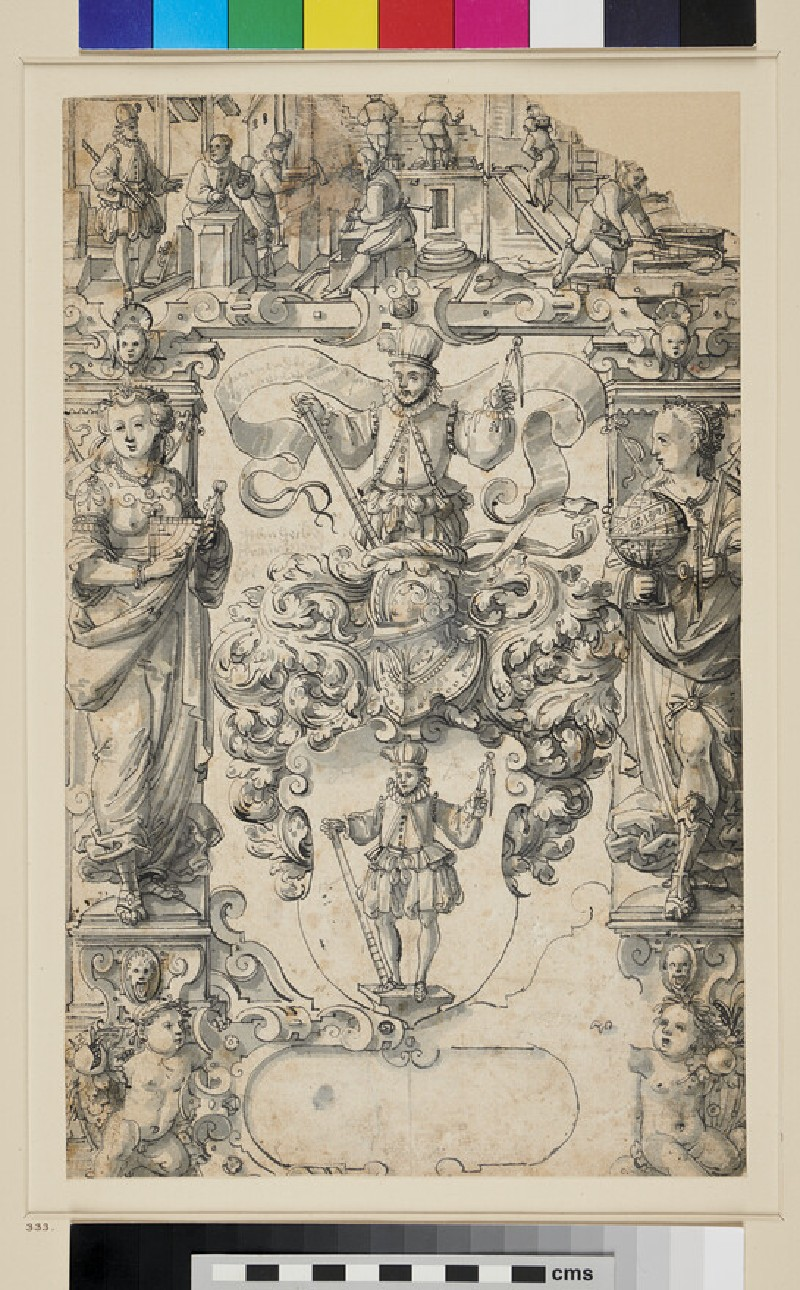 Design for a Panel of stained Glass (WA1863.457, recto)