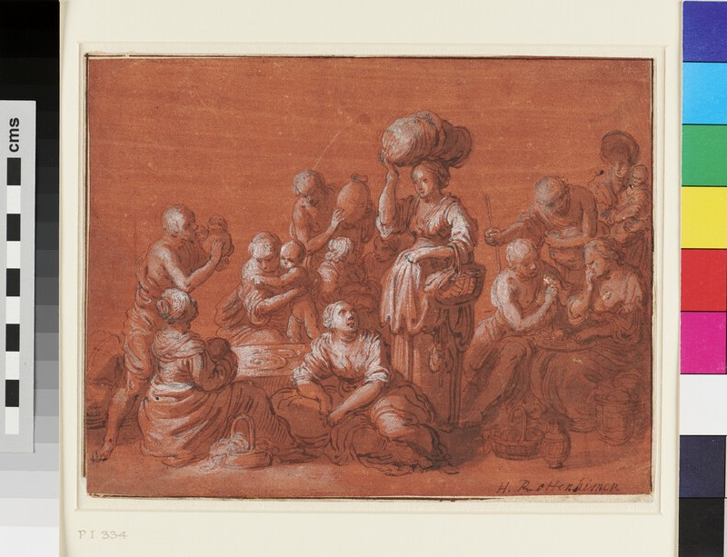A Group of fourteen Figures