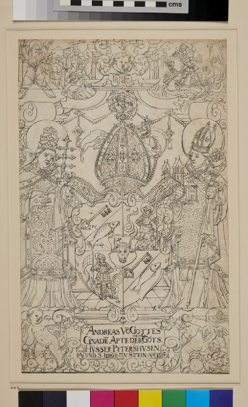 Design for a Panel of stained Glass (WA1863.469, recto)