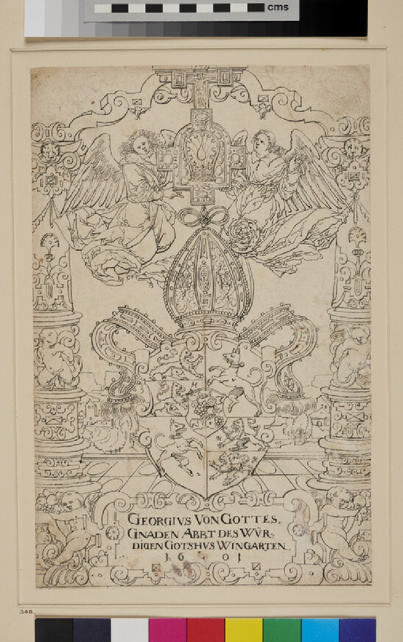 Design for a Panel of stained Glass (WA1863.470, recto)