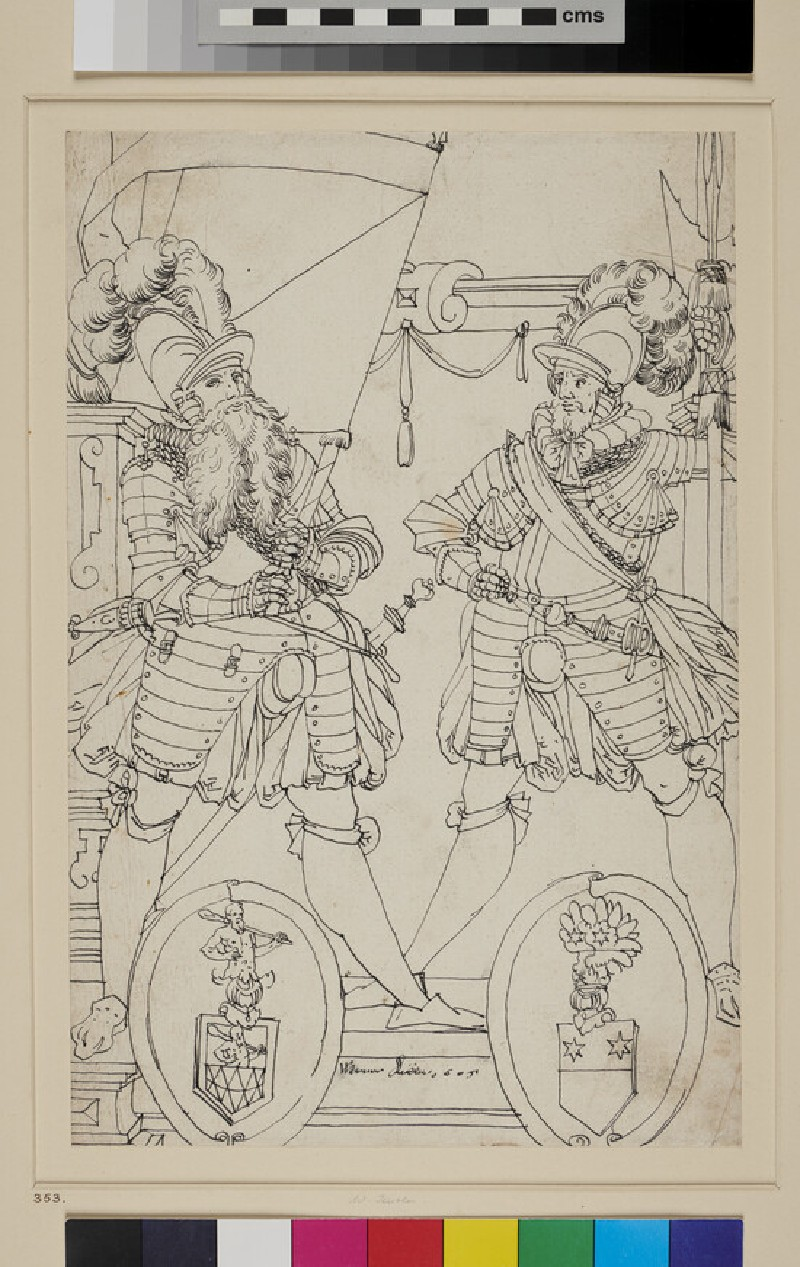 Design for a Panel of stained Glass (WA1863.474, recto)