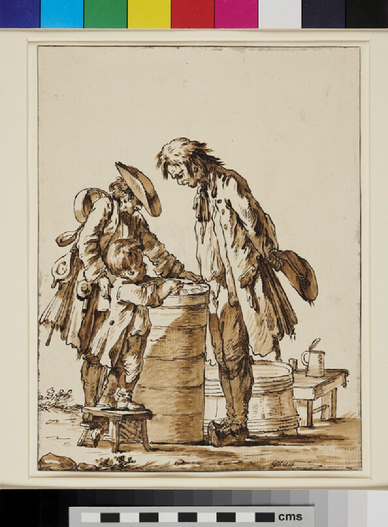 A Group of three Figures