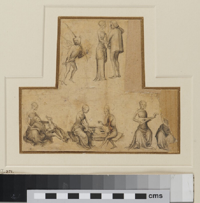 Sheet of Figure Studies (WA1863.610, verso)