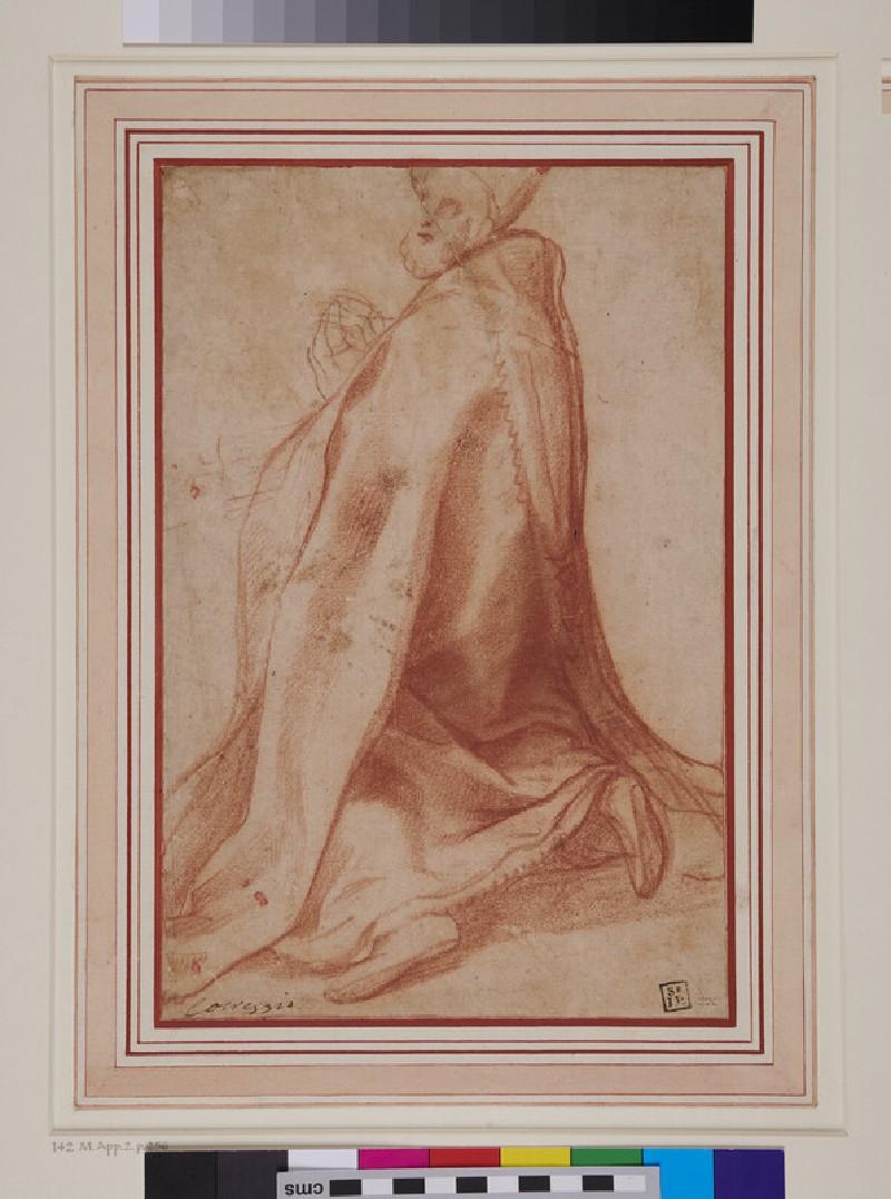 Pope Sixtus V kneeling