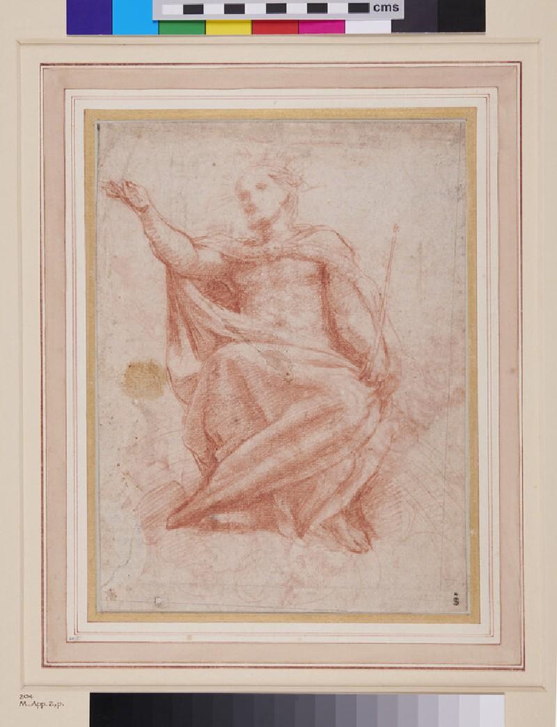 Recto: Christ<br />Verso: Three Architectural sketches (recto)