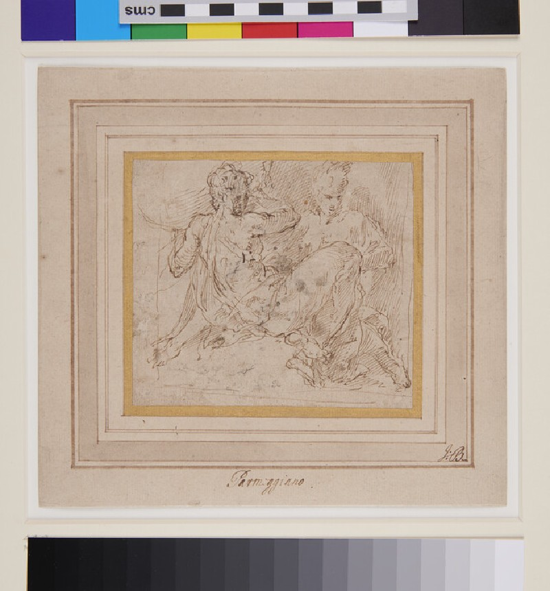 Two allegorical Figures (verso)
