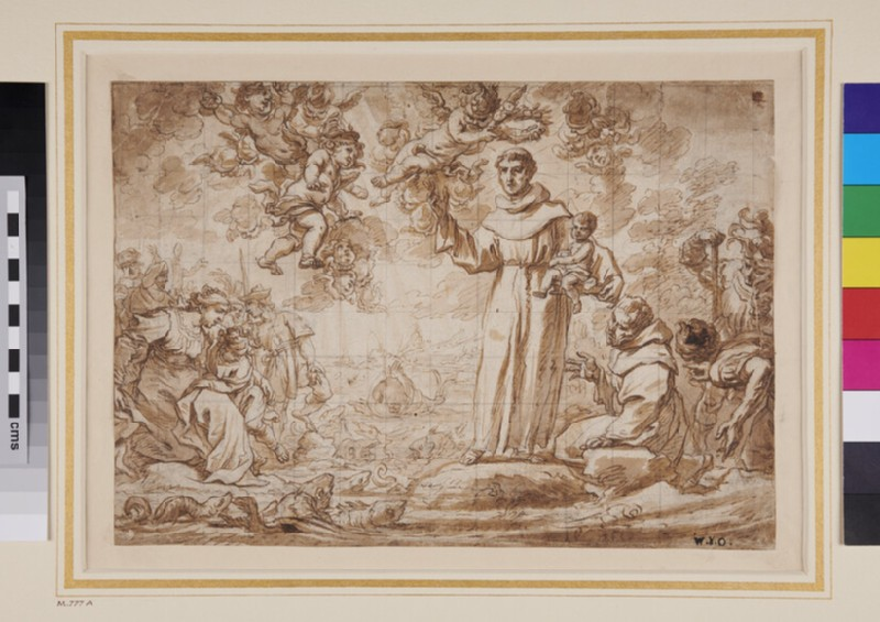 St Anthony preaching to the Fish (WA1863.688, verso)