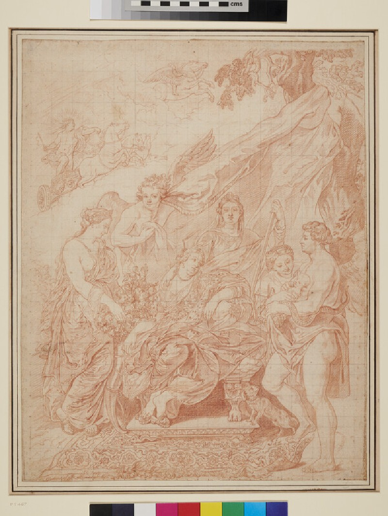 The Birth of Louis XIII at Fontainebleau (WA1863.7, recto)