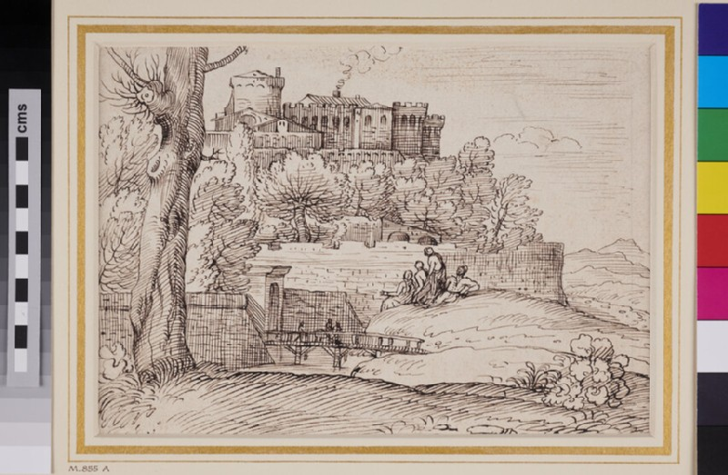 Landscape with walled Town