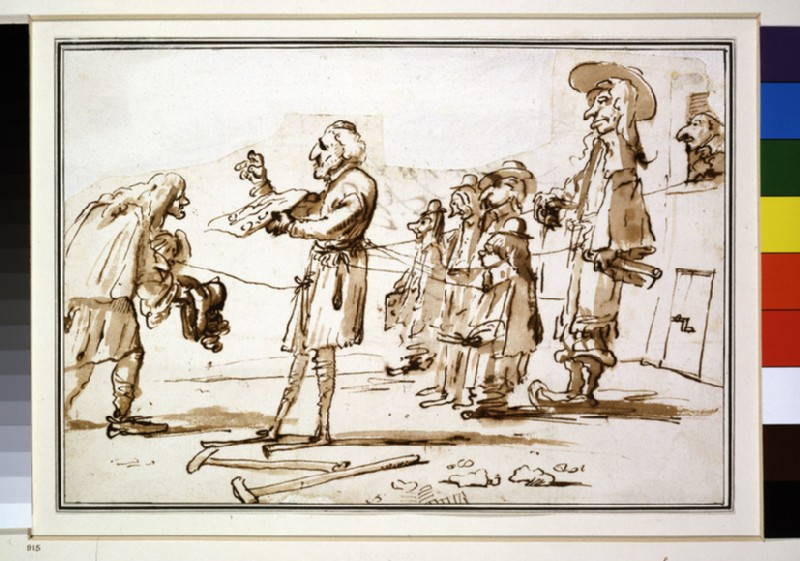 Caricature: Composition of eight Figures