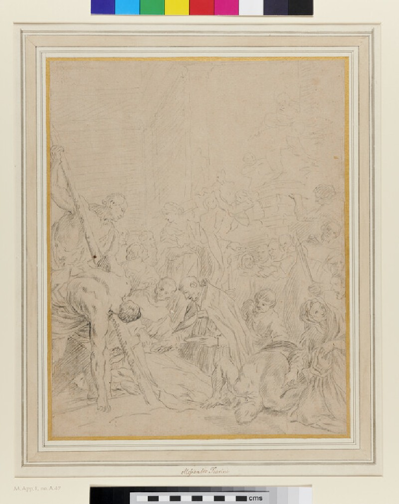 The Disinterment of the Disobedient Monk (after Ludovico Carracci)